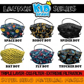Material Mask - Triple Layer Extreme D15 Filter Protective Kids Mask BOYS