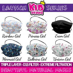 Material Mask - Triple Layer Extreme D15 Filter Protective Kids Mask GIRLS