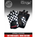 Namaste Designer Series Lifting Gloves - She Who Dares, Wins! Edition